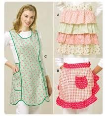 Apron Designs And Kitchen Apron Styles Kwik Sew Ruffled Aprons Pattern Discount Designer Fabric