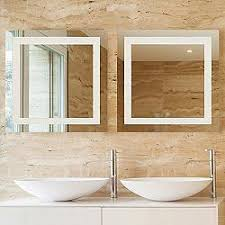 illuminated mirrors for bathrooms appealing led lighted mirrors bathrooms amazon com wall mounted