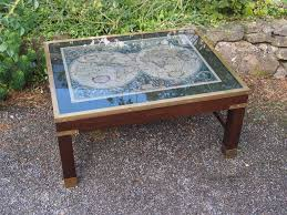 Map Coffee Table Map Coffee Table Luxury On Vintage Retro Glass Top Caign