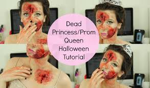 dead princess prom queen halloween tutorial itssimplybeauty