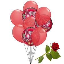 balloon delivery san antonio tx say happy birthday with 3 mylar balloons 6 balloons