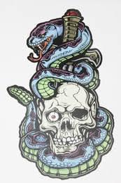 discount skull snake tattoo 2017 skull snake tattoo on sale at