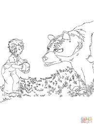 sal meets a bear coloring page free printable coloring pages