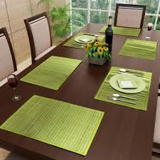 cuisine en bambou set de table bambou vert 48x33cm bali bamboo set de table linge à