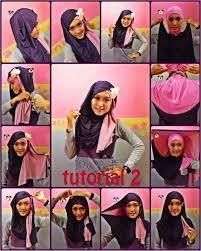 tutorial jilbab dua jilbab 82 gambar terupdate tutorial hijab segi empat 2 warna untuk