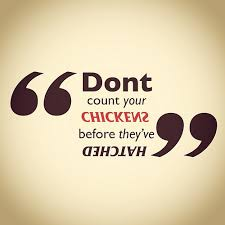 Don Count The Chicken Before They Hatch Don T Count Your Chickens Before They Hatch Quote Font Flickr