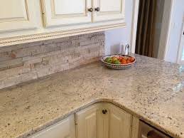 Facelift Kitchen Cabinets Travertine Backsplash From The Tile Shop The Cabinet Glazing