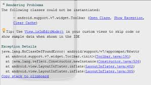 android layoutinflater xml android studio android support v7 widget toolbar can not be