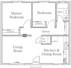 2 bedroom floor plan architecture excellent 2 bedroom and open living kitchen apartment