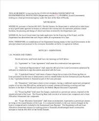 loan template word ms word loan agreement template word document