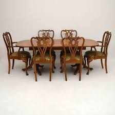 Walnut Dining Room Set Dining Tables Antique Burr Maple Walnut Dining Table Plus Chairs