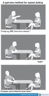 Speed Dating Meme - gamer speed dating meme