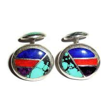 turquoise stone sterling silver amethyst lapis turquoise stone mens cufflinks