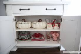 Dining Room Cupboards Valentine U0027s Tablescape And Organized Built Ins The Sunny Side