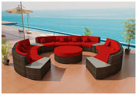 Ilios Round Outdoor Wicker Sectional Sofa By Las Vegas Patio Furniture - Round outdoor sofa