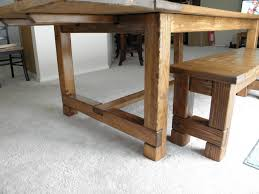Diy Farmhouse Table And Bench Bench Table Bench Plans Diy Farmhouse Benches Picnic Table Bench