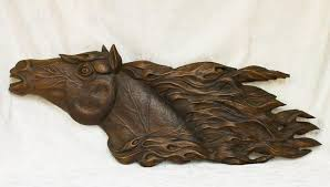 wooden animal wall wooden animal wood carving wood wall decor