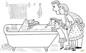 harry the dirty dog coloring page printable kids coloring