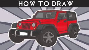 jeep logo drawing how to draw jeep wrangler step by step youtube