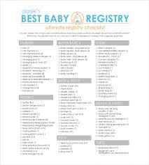 top baby registry baby registry checklist templates 12 free word excel pdf