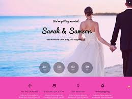 the best wedding websites 19 free wedding html website templates templatemag