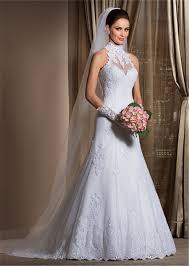 wedding dress high neck gorgeous a line high neck wedding dress cheap lace sheer