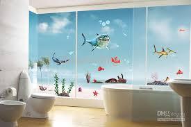 sea home decor popular cartoon shark sticker happy house removable home decor wall
