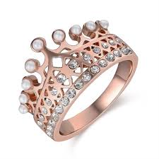 rings fashion gold images China new model crown jewelry rose gold fashion ring china gold jpg