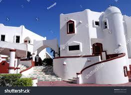 mediterranean style white house tropics stock photo 32822908