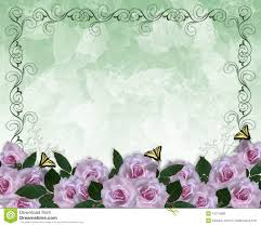 wedding invitation floral border lavender roses royalty free stock