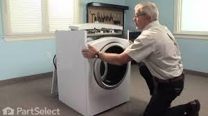 dryer repair replacing the dryer drum slide ge part we1m481