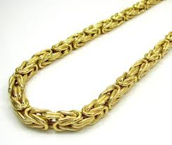 mens byzantine necklace gold images 14k yellow gold men 39 s 4mm solid byzantine chains bracelet jpg