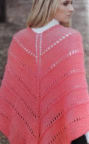 ponchos a palillo patrón para tejer un poncho a dos agujas iknitts com