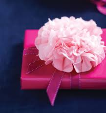 how to use tissue paper in a gift box how to make a beautiful floral tissue paper bow