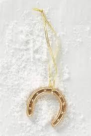 horseshoe ornament wishbone keepsake ornament beaded mini lucky