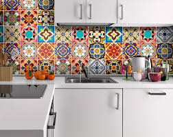 Tile Decals For Kitchen Backsplash by Traditional Talavera Stickers