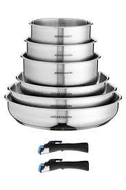 batterie de cuisine inox induction batterie de cuisine induction poignee amovible designs de
