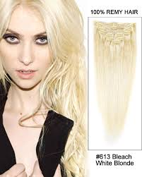 white hair extensions 16 613 white 9pc 100 remy hair clip in