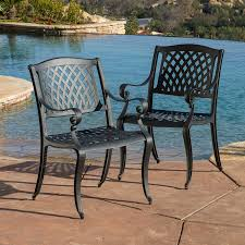 Black Sand 3 5 Amazon Com Marietta Outdoor Cast Aluminum Dining Chairs Set Of