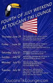 upcoming events toucans tiki lounge