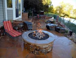 wonderful outdoor fire pit patio and design outdoor landscaping