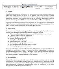 compliance manual template 14 best procedure manual sample