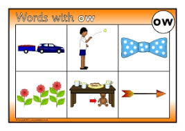 words with ow phonics activities and printable teaching