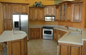 two tone kitchen cabinet ideas showing brown wooden kitchen