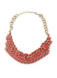 red necklace accessories images Sannam chopra chunky red ribboned necklace shop necklaces at jpg