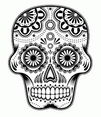 free printable sugar skull coloring pages pertaining to really