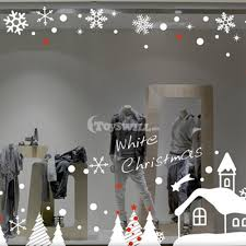 creative christmas window decoration for sale white christmas