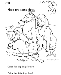 animal coloring page dog sheets to color