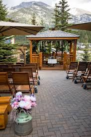 rustic mountain wedding at the bear and bison inn canmore