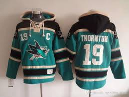 sharks 19 thornton green hockey hoodies sharks hockey jacket ice